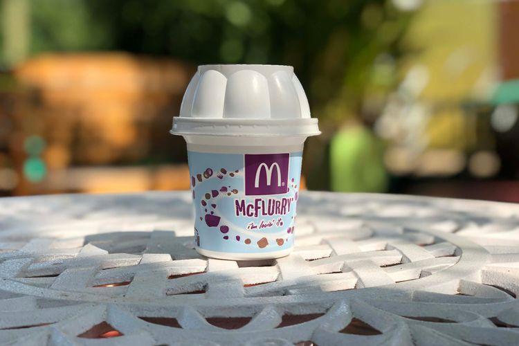 Ilustrasi es krim McFlurry oleh McDonalds.