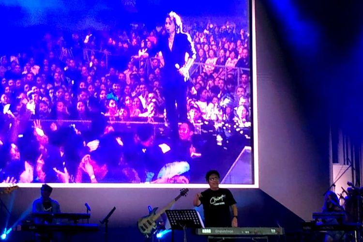 Chrisye Live By Erwin Gutawa di Dynamic Stage Synchronize Fest 2019 hari kedua yang digelar di Gambir Expo, Kemayoran, Jakarta Pusat, Sabtu (5/10/2019).