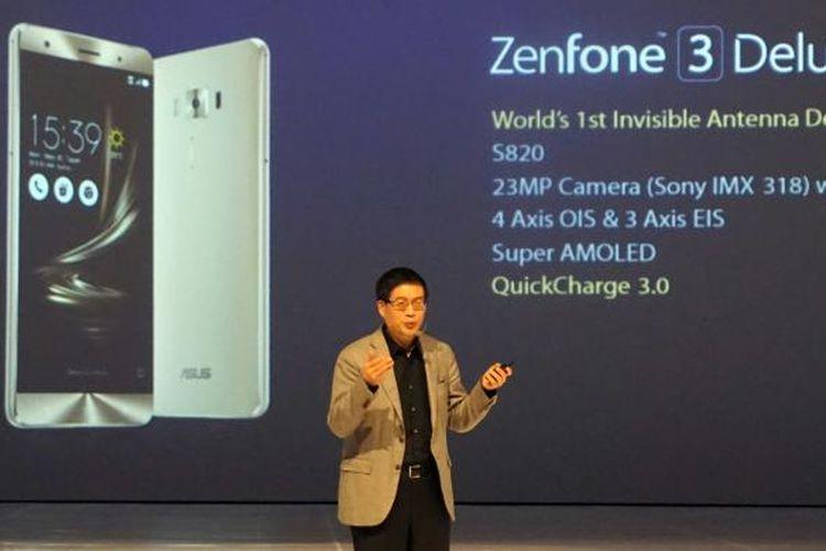 CEO Asus Jerry Shen di acara peluncuran Zenfone 3 di Bali, Rabu (7/9/2016).