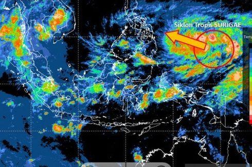 BMKG: Intensitas Siklon Tropis Surigae Melemah dalam 24 Jam ke Depan