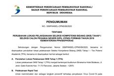 Perubahan Lokasi dan Ketentuan SKB CPNS Kementerian PPN/Bappenas, Ini Info Lengkapnya