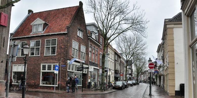 Suasana kota tua Amersfoort di Belanda.