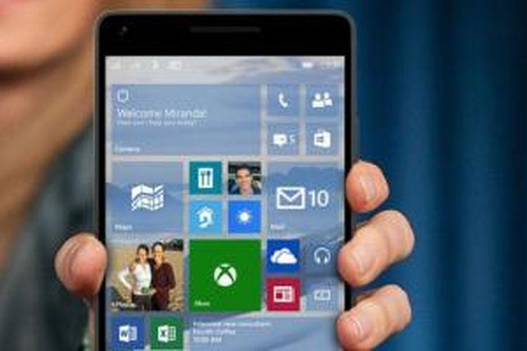 Xiami Mi4 menggunakan Windows 10