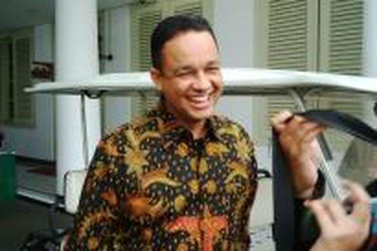 Anies Baswedan menemui Presiden Joko Widodo di Istana, Jumat (24/10/2014) pagi.