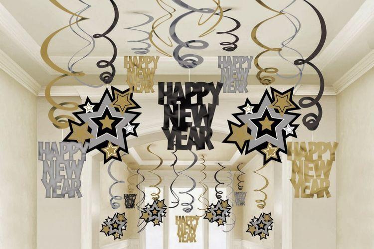 Dekorasi Tahun Baru DIY