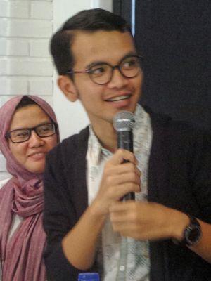 Peneliti Hukum Pidana dari Pusat Studi Hukum dan Kebijakan (PSHK) Miko Ginting dalam sebuah diskusi terkait penerapan hukuman mati, di kawasan Cikini, Jakarta Pusat, Minggu (26/2/2017).