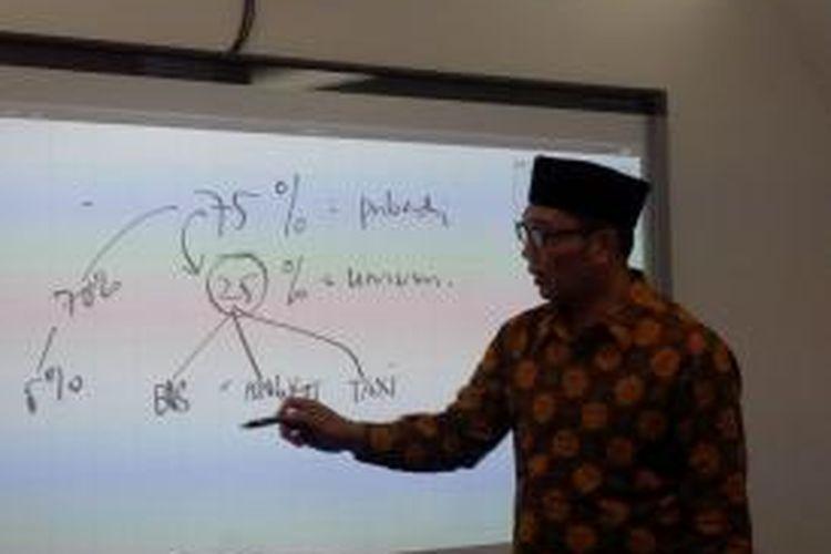 Wali Kota Bandung Ridwan Kamil menjelaskan sistem transportasi di Bandung.