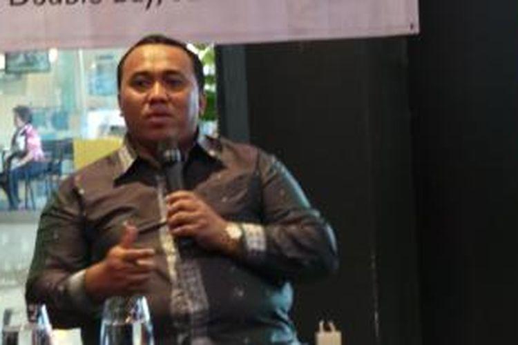 Presiden Konfederasi Serikat Pekerja Seluruh Indonesia (KSPSI) Andi Gani Nena Wea