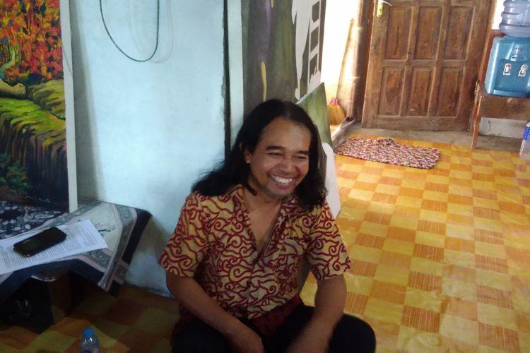 Slamet Jumiarto (42), ditemui di rumah Kontrakan di Dusun Karet, Desa Pleret, Kecamatan Pleret, Kabupaten Bantul Selasa (2/4/2019)