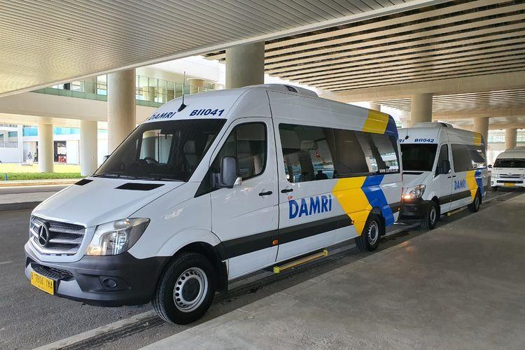 Armada bus damri yang beroperasi dari Yogyakarta International Airport, Kulon Progo, DIY.