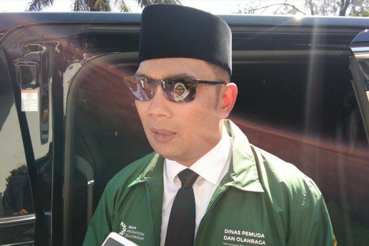 Gubernur Jawa Barat Ridwan Kamil saat ditemui di Gedung Sate, Jalan Diponegoro, Rabu (17/7/2019).