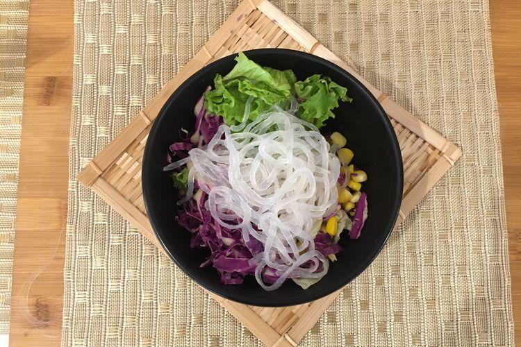 Menu baru dari Hokben, Tokyo Salad Bowl di Jakarta, Selasa (10/4/2019).  KOMPAS.com/ANGGITA MUSLIMAH