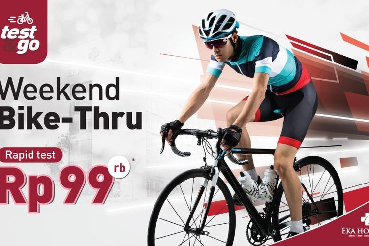 Weekend Bike Thru oleh Eka Hospital.