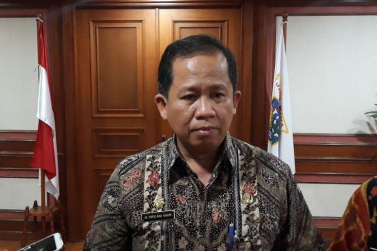 Wakil Wali Kota Jakarta Utara Ali Maulana Hakim di Kantor Wali Kota Jakarta Utara, Kamis (14/2/2019).