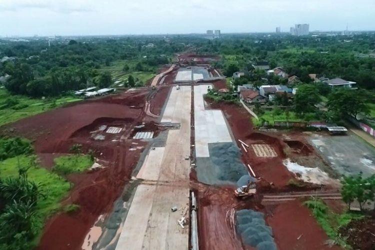 Hingga minggu akhir Januari 2018, pembangunan fisik proyek jalan tol Kunciran-Serpong sepanjang 11,20 kilometer ini telah mencapai 35,90 persen.