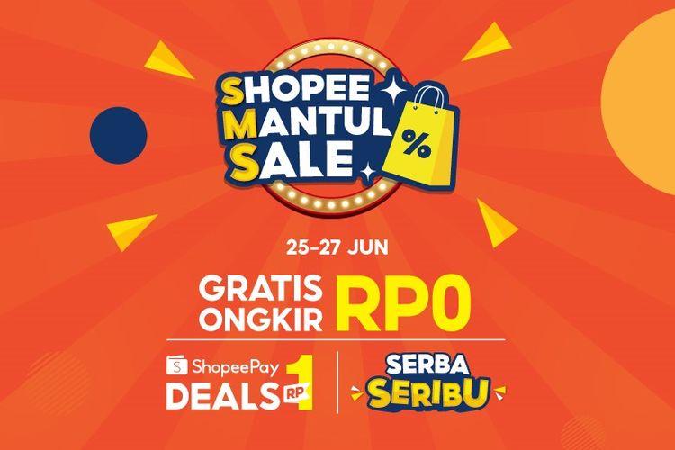 Ilustrasi promo Shopee Mantul Sale.