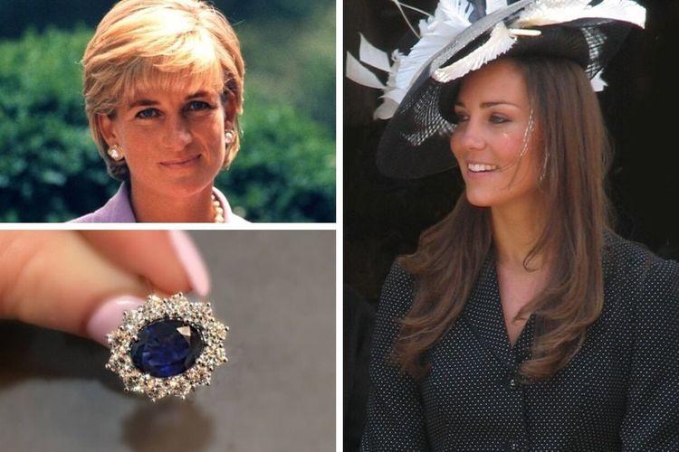 Cincin pertunangan Kate Middleton yang dulu dimiliki oleh Putri Diana