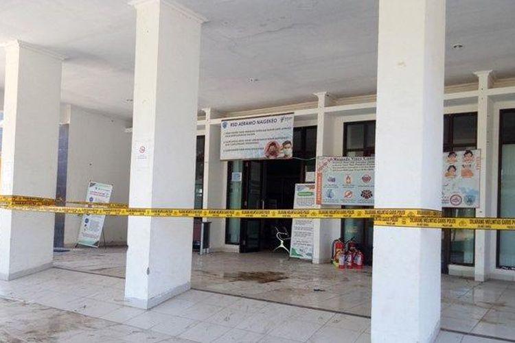 Suasana di TKP RSD Aeramo Kota Mbay Kabupaten Nagekeo, Sabtu (9/5/2020) pagi.