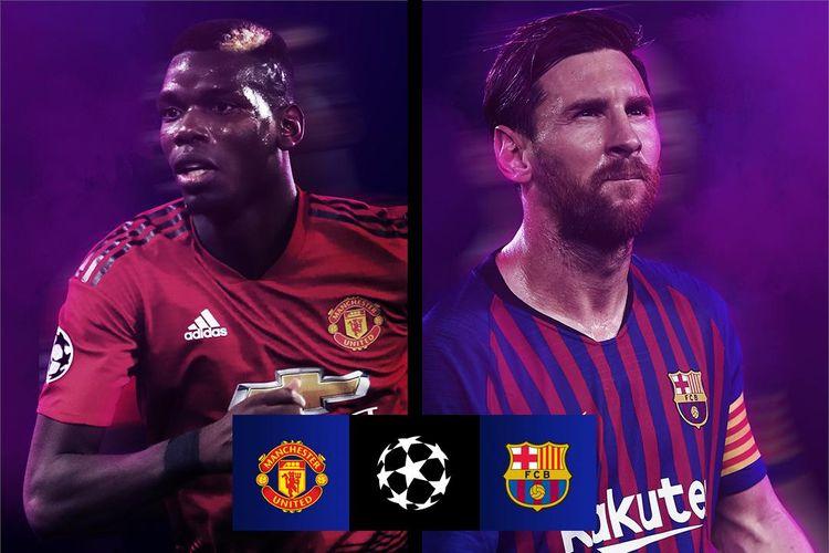 Hasil drawing Liga Champions di Nyon pada Jumat (15/3/2019) mempertemukan Manchester United vs Barcelona pada babak perempat final.