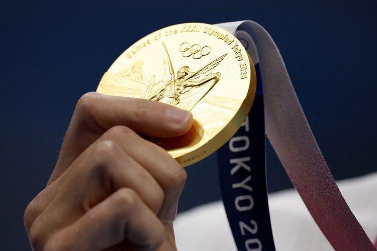 Medali emas Olimpiade Tokyo 2020.