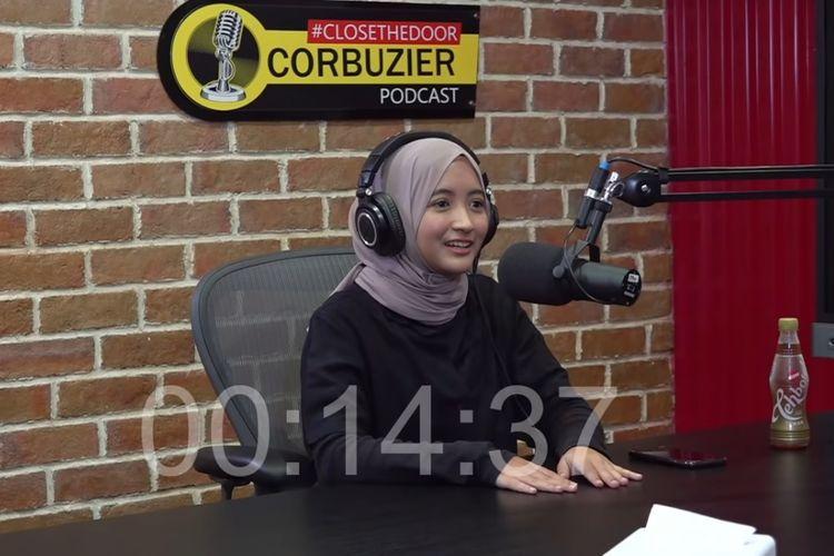 Komika Arafah Rianti menjadi tamu podcast Deddy Corbuzier.