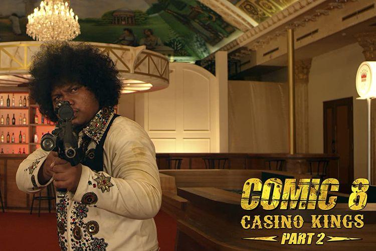 Babe Cabita berperan sebagai Love Machine dalam film Comic 8: Casino Kings Part 2
