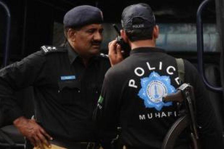 Ilustrasi polisi Pakistan.