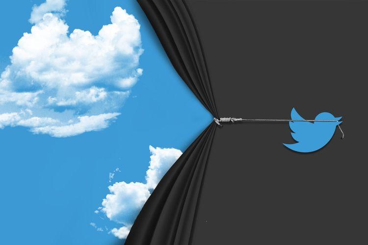 Ilustrasi Tomorrow, layanan berita cuaca lokal yang diluncurkan  pada Twitter.