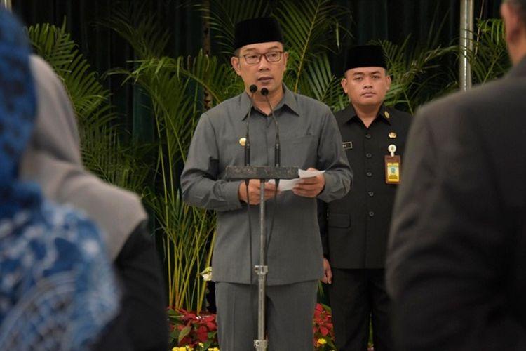 Gubernur Jawa Barat Ridwan Kamil saat melantik 14 pejabat baru di Gedung Sate, Jalan Diponegoro, beberapa waktu lalu.