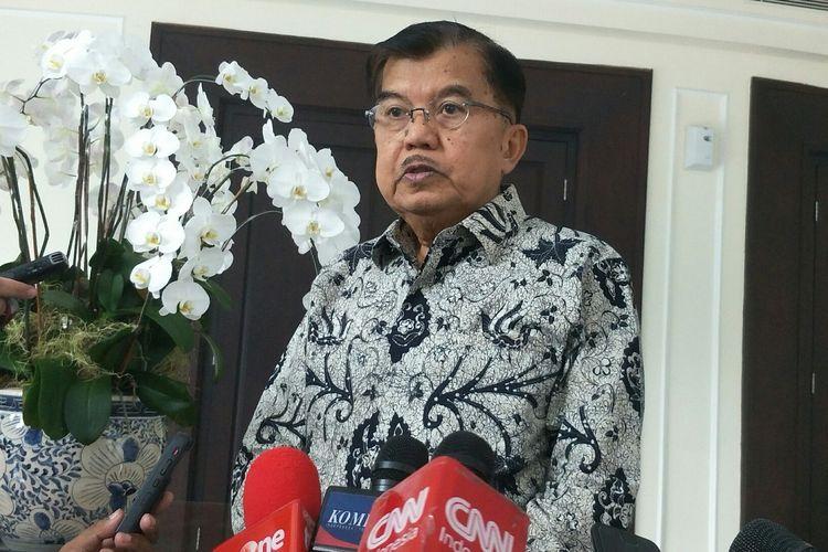 Wakil Presiden Jusuf Kalla di Kantor Wakil Presiden, Jakarta, Rabu (22/5/2019).