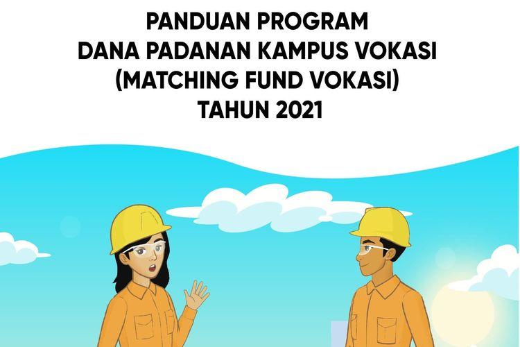 Ilustrasi Buku Panduan Program Dana Padanan Kampus Vokasi (Matching Fund Vokasi) Tahun 2021