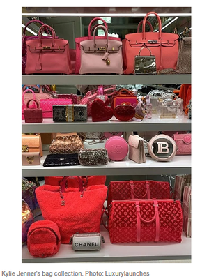 Sebagian koleksi tas Kylie Jenner