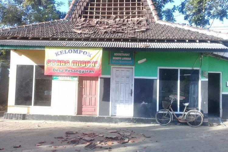 Fasum rusak akibat gempa di Kecamatan Pesanggaran Kecamatan Pesanggaran Banyuwangi