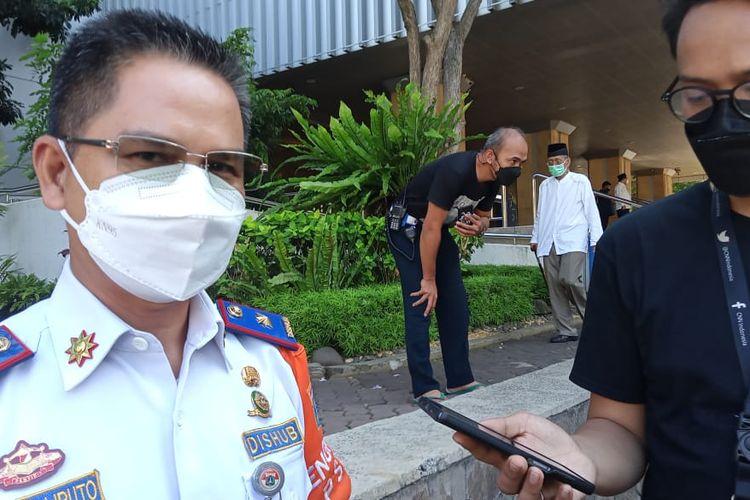 Kepala Dinas Perhubungan DKI Jakarta Syafrin Liputo di Balai Kota DKI Jakarta, Jumat (9/4/2021)
