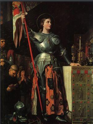Jean Auguste Dominique Ingres melukis Joan of Arc pada 1854. Lukisan itu ada di Museum Louvre di Paris, Perancis. (Public Domain/Live Science)