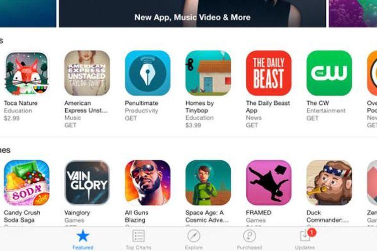 Tombol Get di App Store