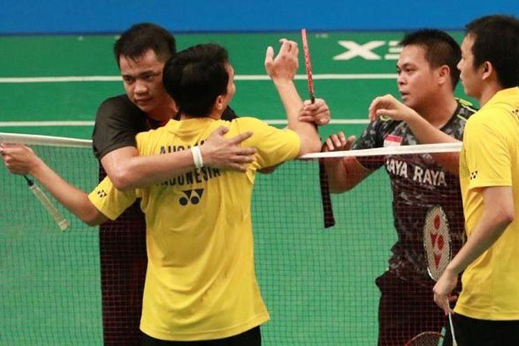 Hendra Setiawan/Mohammad Ahsan dikalahkan Markis Kido/Hendra AG