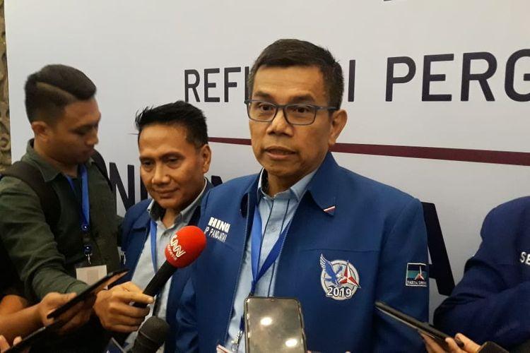 Sekjen Partai Demokrat Hinca Pandjaitan di JCC Senayan, Jakarta, Rabu (11/12/2019)