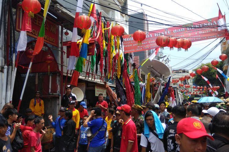 Suasana Jalan Kemenangan, Glodok, Jakarta Barat, Minggu (4/3/2018) pukul 11.04 WIB terpantau ramai.