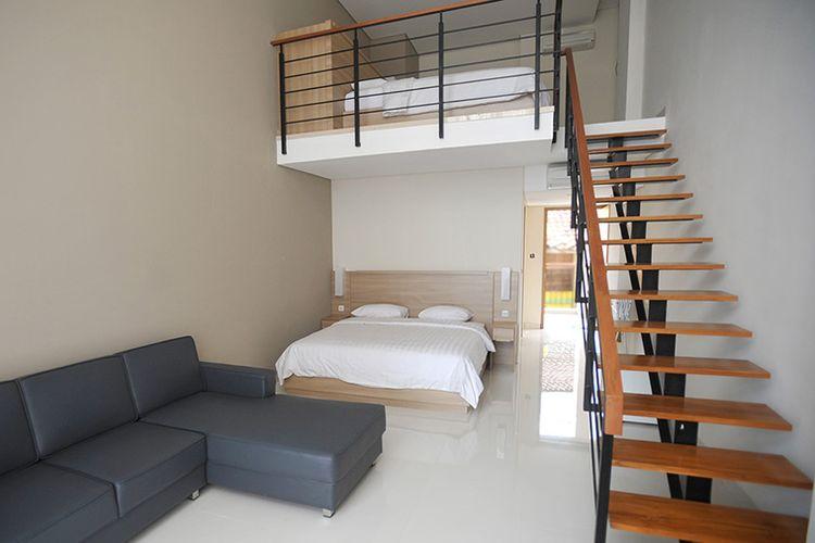 Ilustrasi hotel - Kamar tipe Mezzanine di Laut Biru Resort Hotel, Pangandaran.