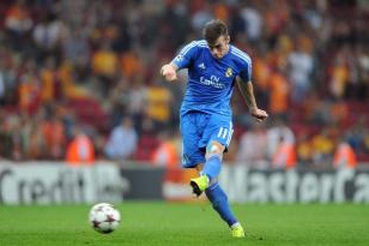Pemain sayap Real Madrid, Gareth Bale.