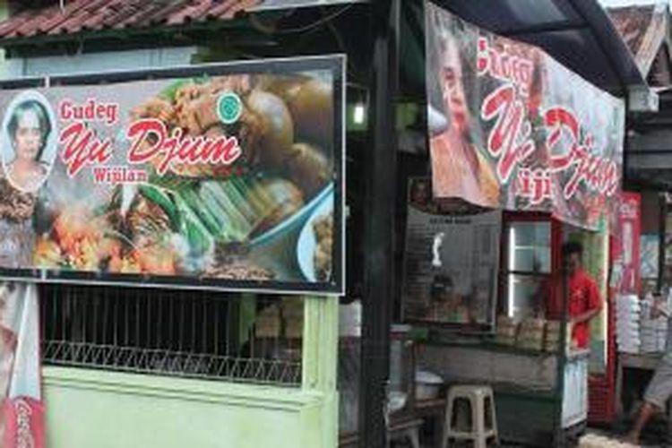 Gudeg Yu Djum di Jalan Wijilan, Yogyakarta yang buka sejak 1950-an.