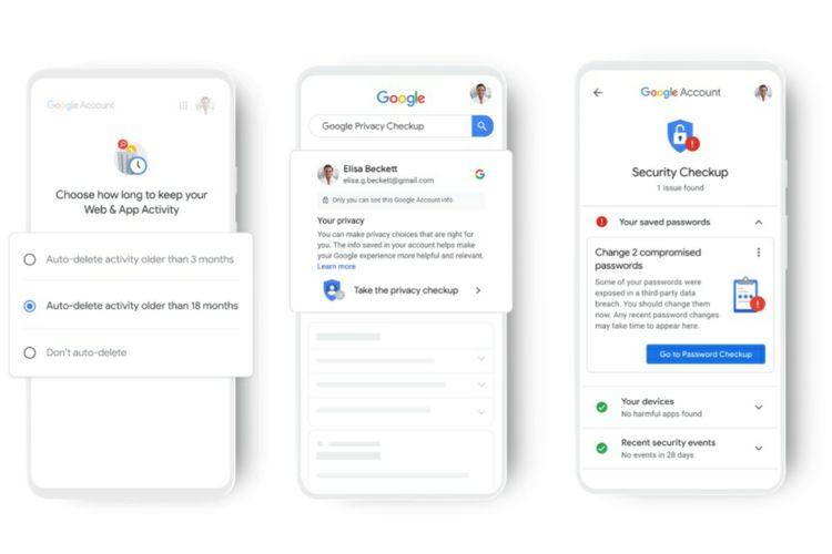 Pengaturan privasi pengguna Google