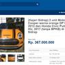 Lelang Paket Mini Cooper S dan Honda Civic, Limit Rp 360 Jutaan
