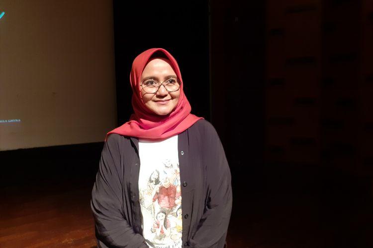 Novia Kolopaking saat ditemui di kawasan Rasuna Said, Setiabudi, Jakarta Selatan, Rabu (4/3/2020).