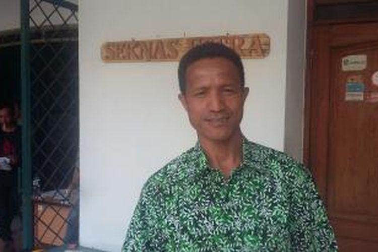 Peneliti Formappi, Lucius Karus, saat ditemui di Sekretariat FITRA, Jakarta Selatan, Jumat (21/8/2015).