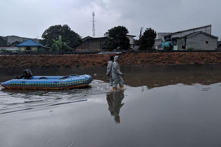 Banjir di Garden City Residence Periuk Tangerang, Senin (3/2/2020)