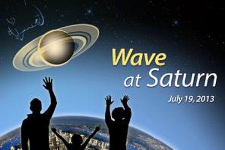 NASA mengajak publik untuk melambaikan tangan ke Saturnus saat wahana antariksa Cassini memotret Bumi dari planet bercincin tersebut.