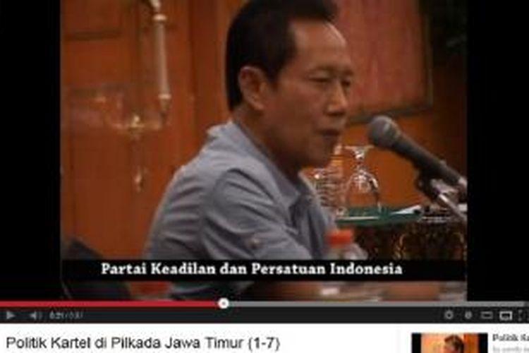 Ketua Umum Partai Keadilan dan Persatuan Indonesia (PKPI) Sutiyoso menuturkan tentang intensitas bujukan pasangan Soekarwo-Saifullah Yusuf untuk mendukung calon petahana pada Pilgub Jatim itu, pada video berjudul