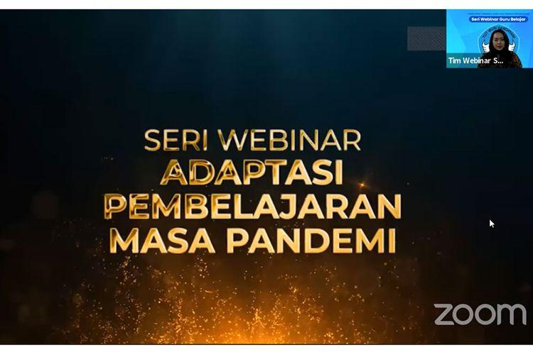 Seri Webinar Adaptasi Pembelajaran Masa Pandemi dari Kemendikbud.